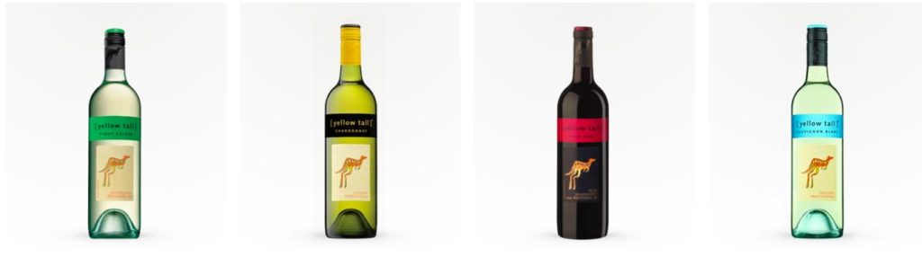 Yellow Tail wine varieties available on Saucey